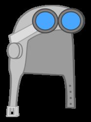 Silver Aviator Hat