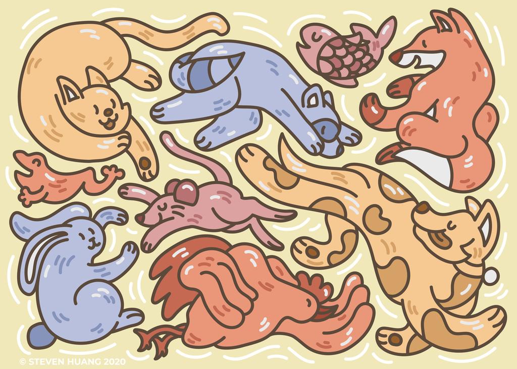 Frolicking Animals