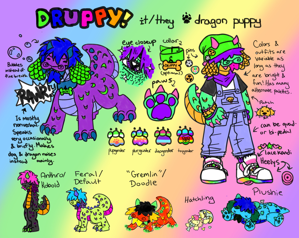 Druppy Reference Sheet 2021