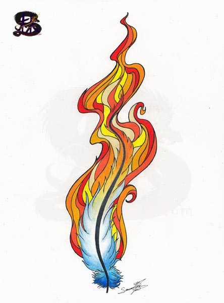 Flaming Pheonix Feather
