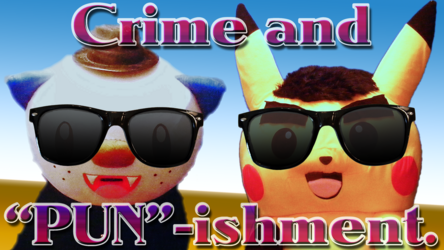 """Mascot Fursuiting: Oshawott Noire and Ace Spade the Pikachu in """"Crime and PUN-ishment"""""""
