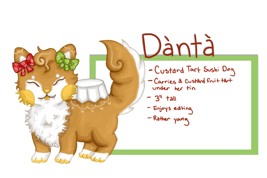 Most recent image: Danta the Sushi Dog