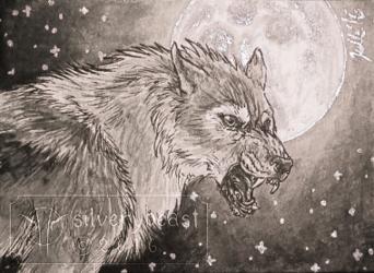 Inktober #7 | Werewolf | ACEO