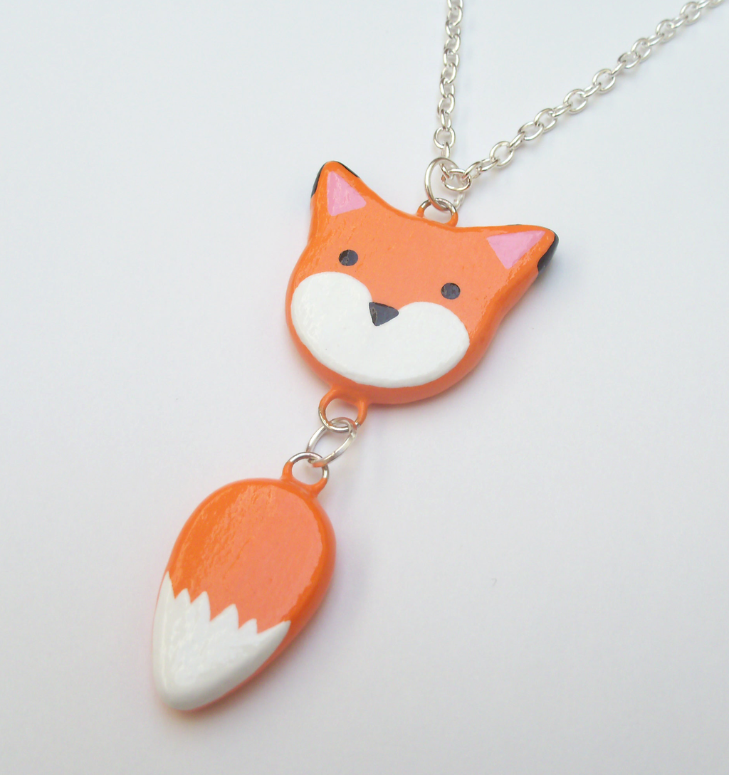 Fox Dangle Tail Necklace