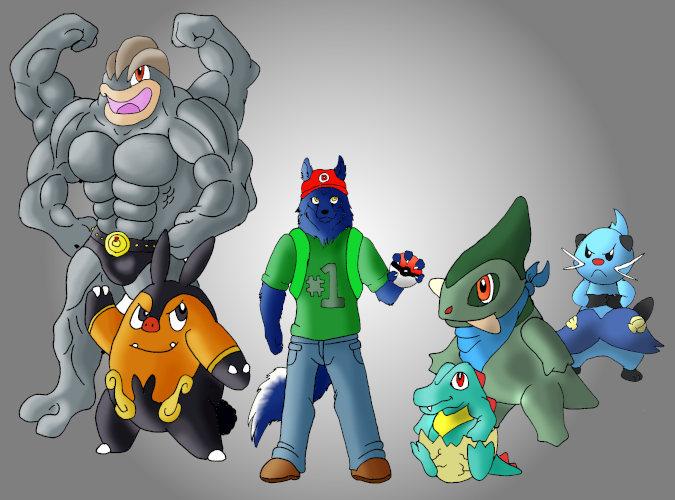 my pokemon team by Yiffy-Wolf