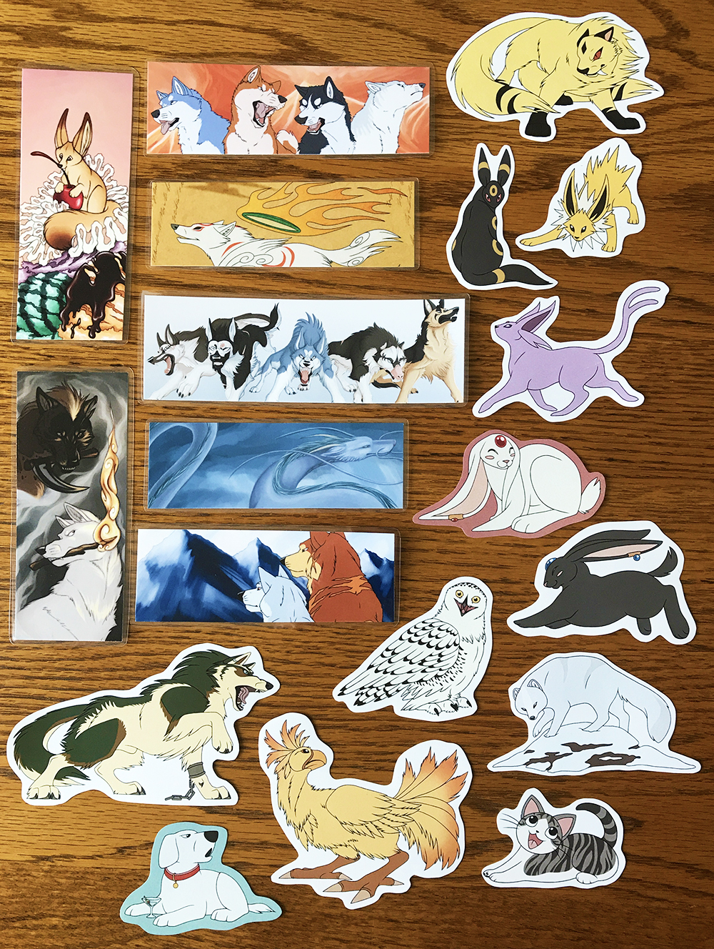 Most recent image: Bookmarks and Stickers for Sale!