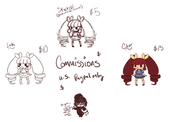 Commission Prices in an easy format!