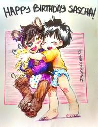 Max & Sascha - Birthday hugs