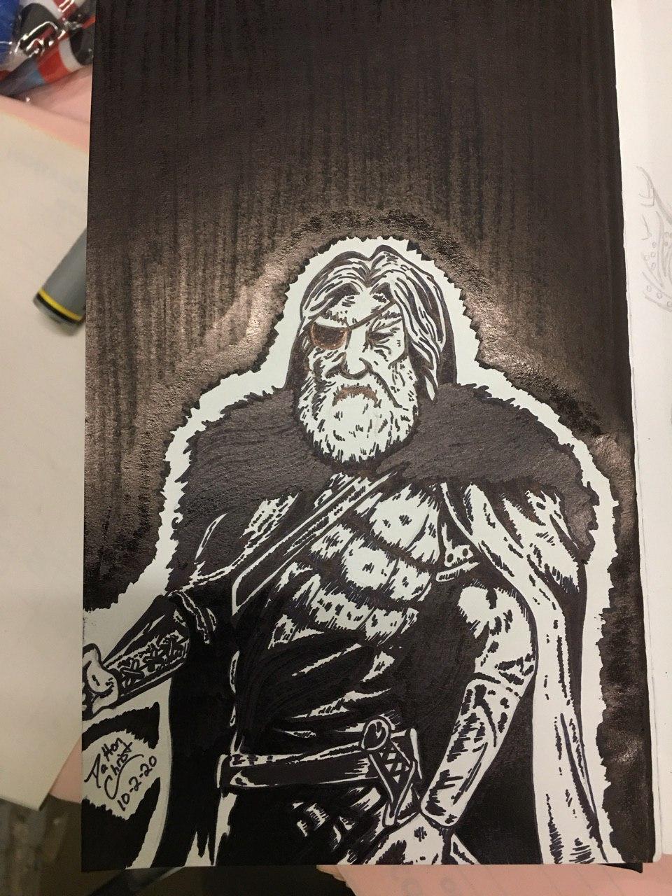 Odin, Inktober 2020, Day 2