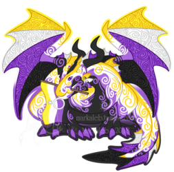 Non-Binary Pride Dragon