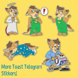 More Toast Telegram stickers!