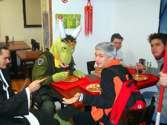 A hungry dragon