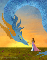 Lady and Dragon