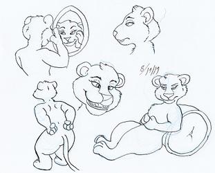 sierra G pen ink sketches