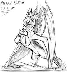 Dragon Sketch Warmup
