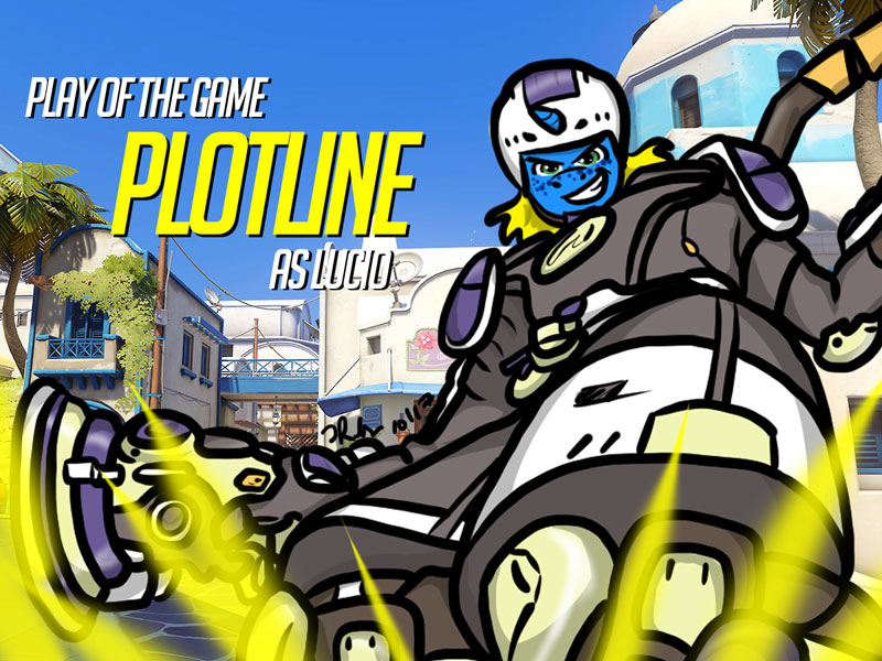 Overwatch Play of the Game Badge– Plotline! (As Lucio)