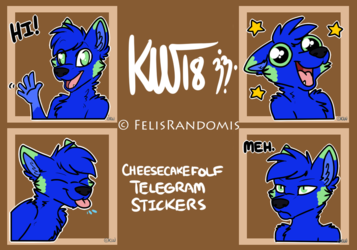CheesecakeFolf Telegram Stickers