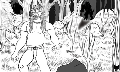 Inktober 2020 #2 Red in the Woods