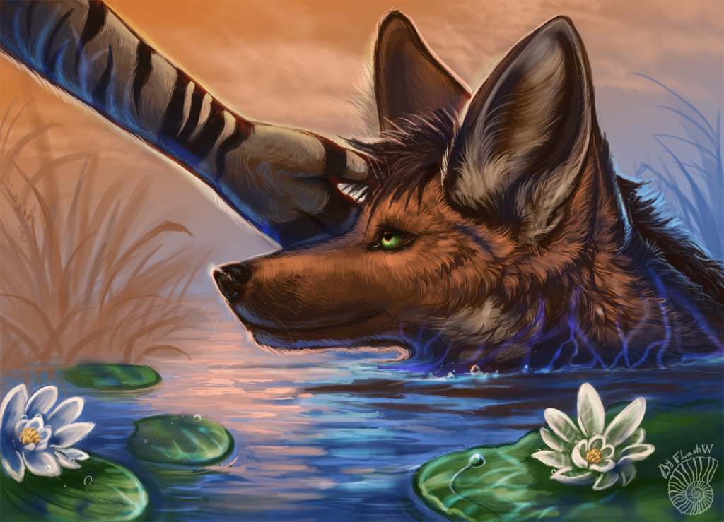 Cool Pond Waters (Art by FlashW)
