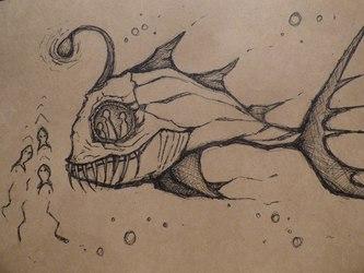 Sea-devil on his hunting trip
