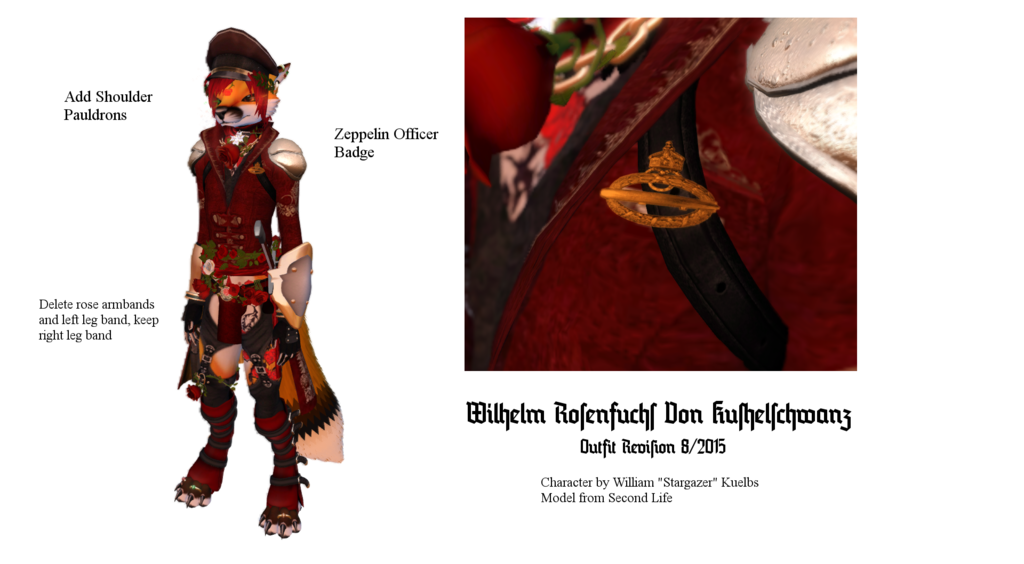 Most recent image: The Rose Baron, outfit revisions 8/11/2015