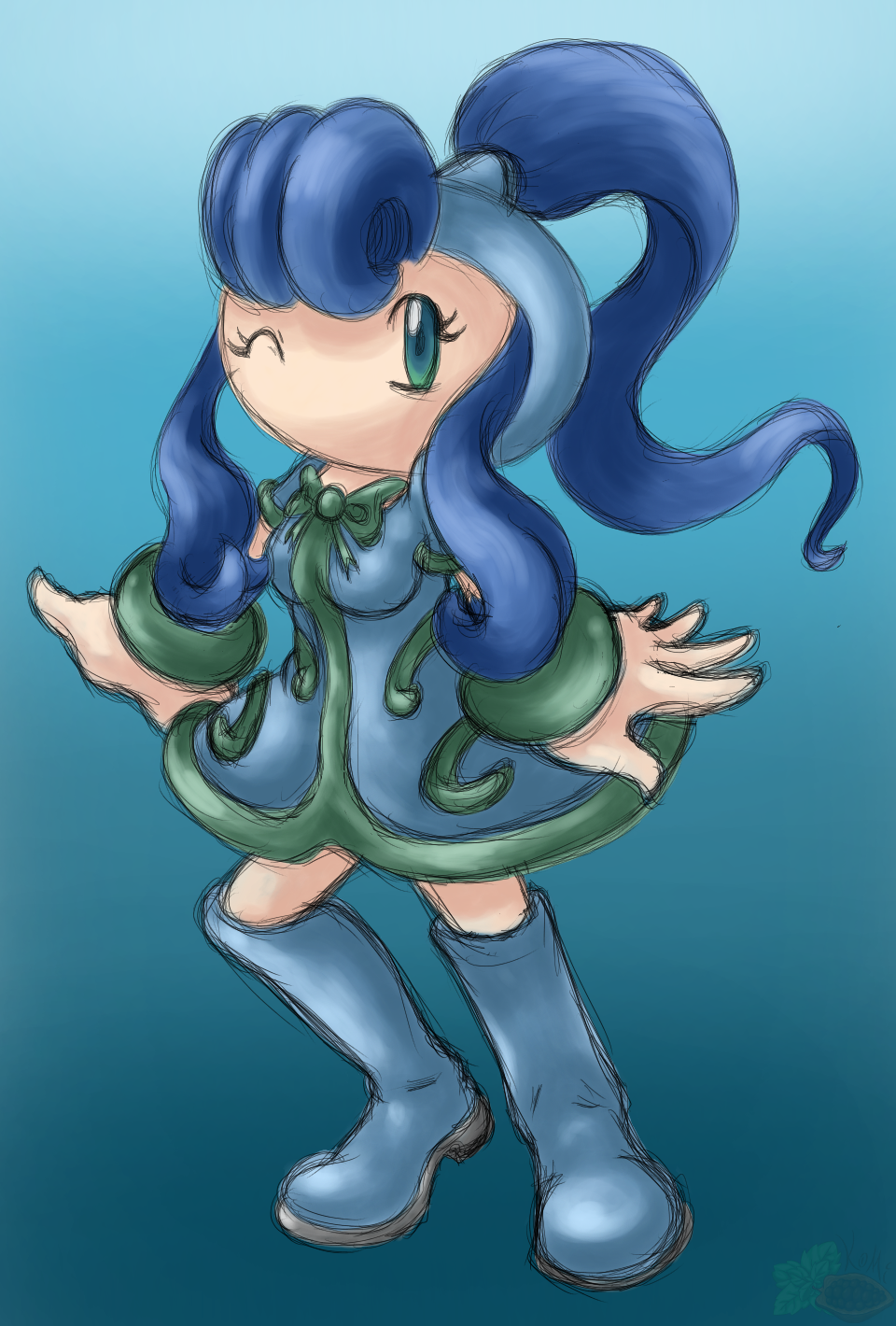 Aquamarine Bomber (Small Reference)