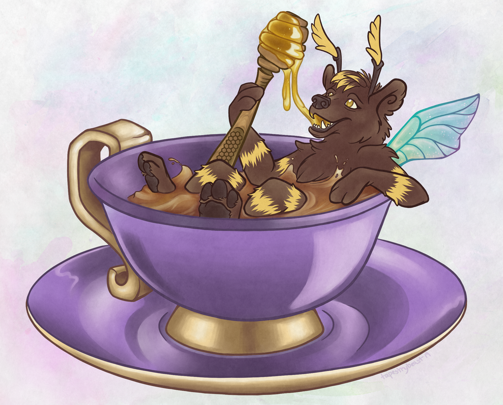 Featured image: a bumblebear's teatime