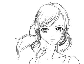 (Unnamed) FemaleOC Sketch