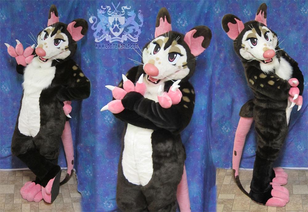 godiva the chocolate opossum fursuit ii  u2014 weasyl