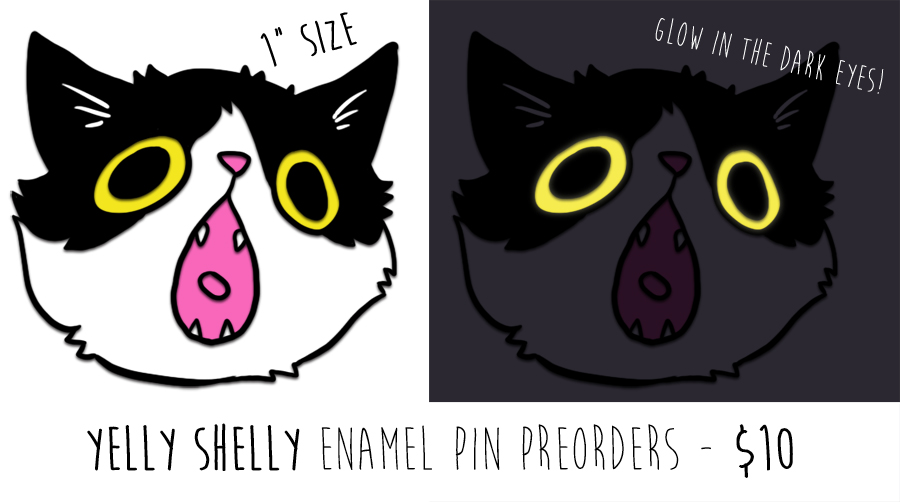 Yelly Shelly Enamel Pin PREORDERS OPEN