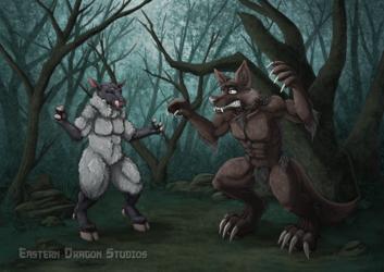 Werewolf Encounter By Eastern Dragon Studios