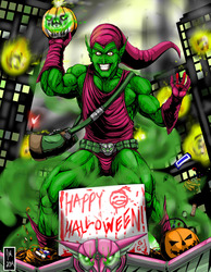 Older works Green goblin halloween 2014
