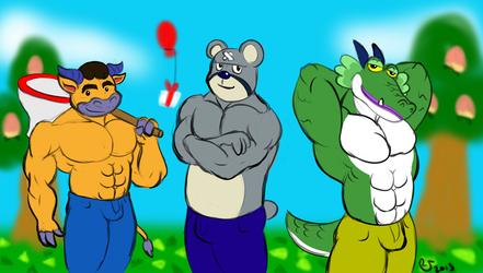Animal Crossing: Coach, Curt, and Drago