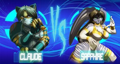 Claude vs Sapphire by Zelmarr