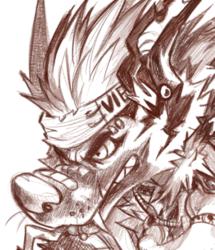 detailed sketch doodle-Dyn