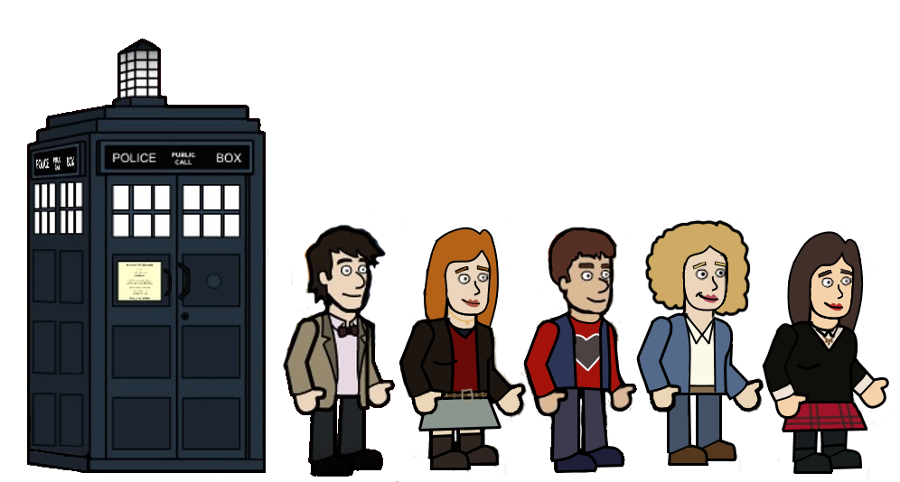 The 11th doctor and his friends