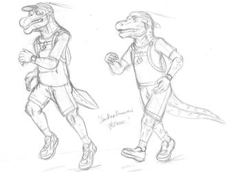 Running Reptiles