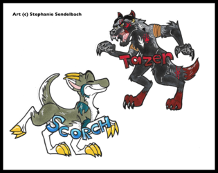 Scorch and Tazer Badges