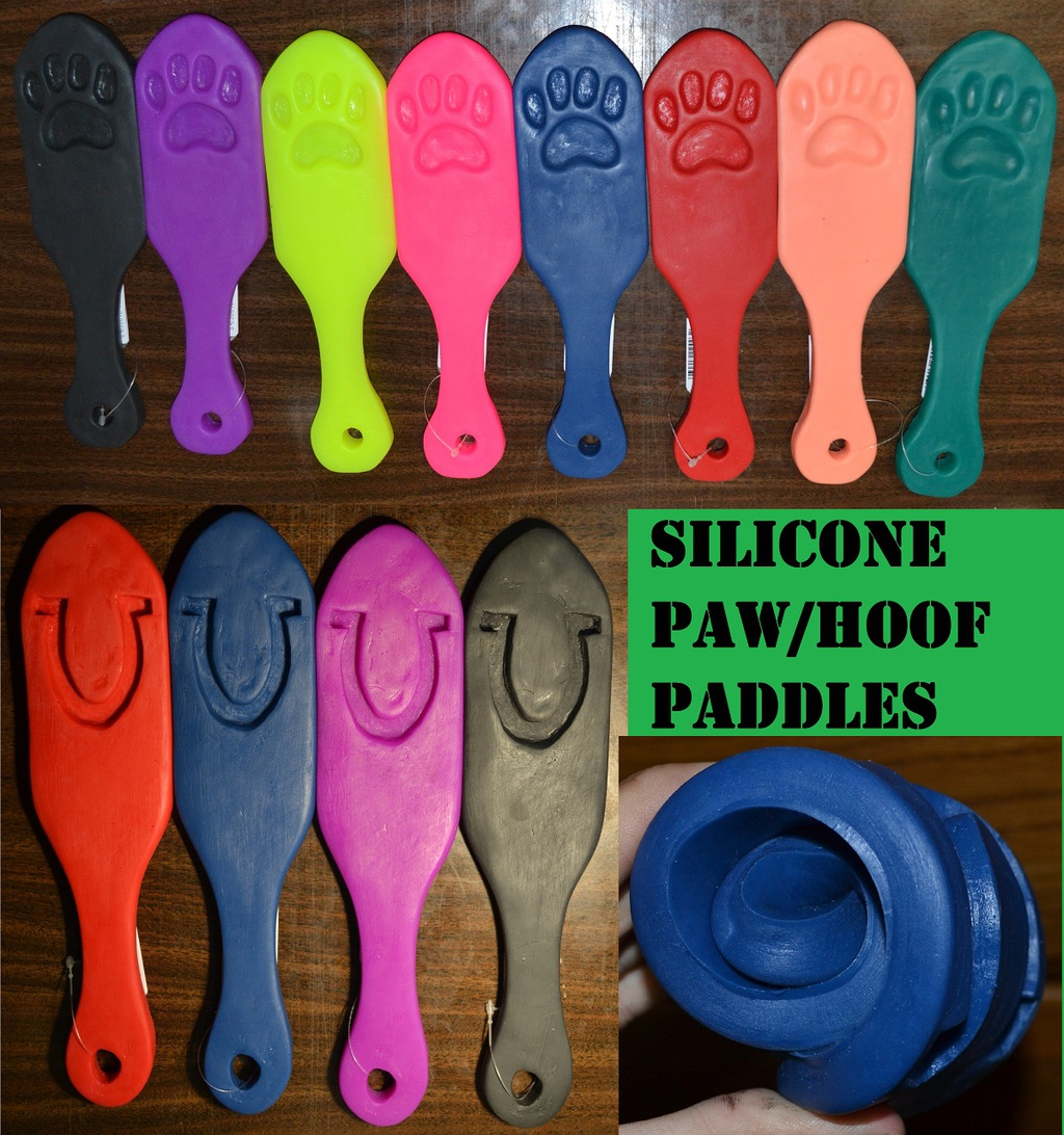 Silicone Paw and Hoof Paddles