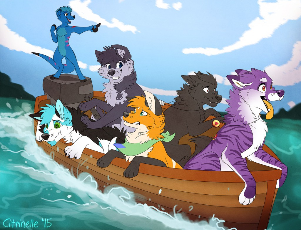 We're On A Boat! ...*blech*