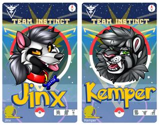 Jinx & Kemper PokeGo IDs