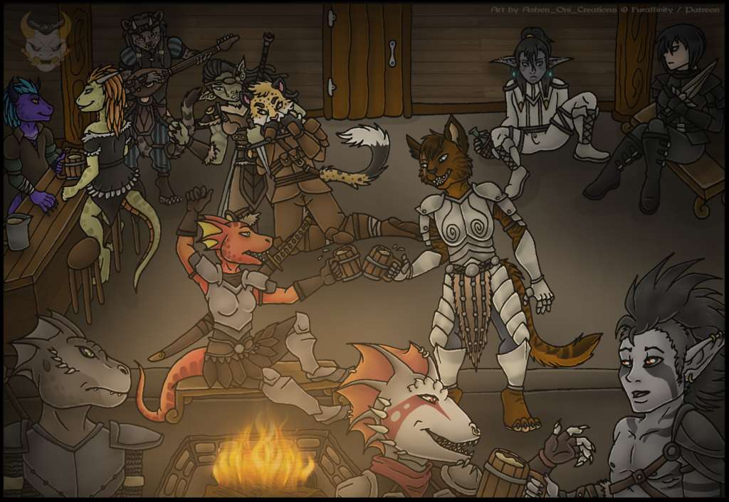 YCH Commission - Drinks at the Tavern