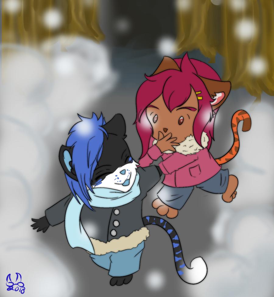 Tora and Rex - Snow Day