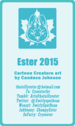 Ester's business card 2015