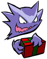 Haunter Opens a Present
