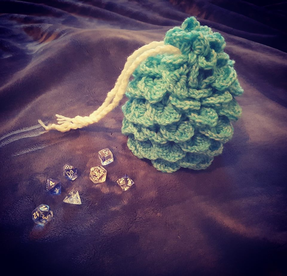 Dragon egg dice bag