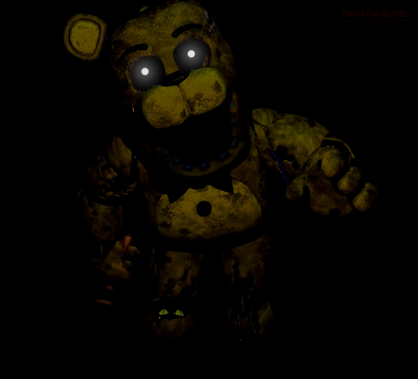 Most recent image: Withered golden freddy in withered freddy's pose edit