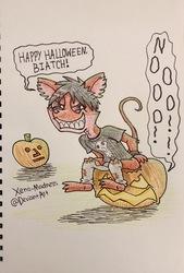 Inktober 21: Terrorised Pumpkins