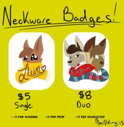 Neckware Badges!