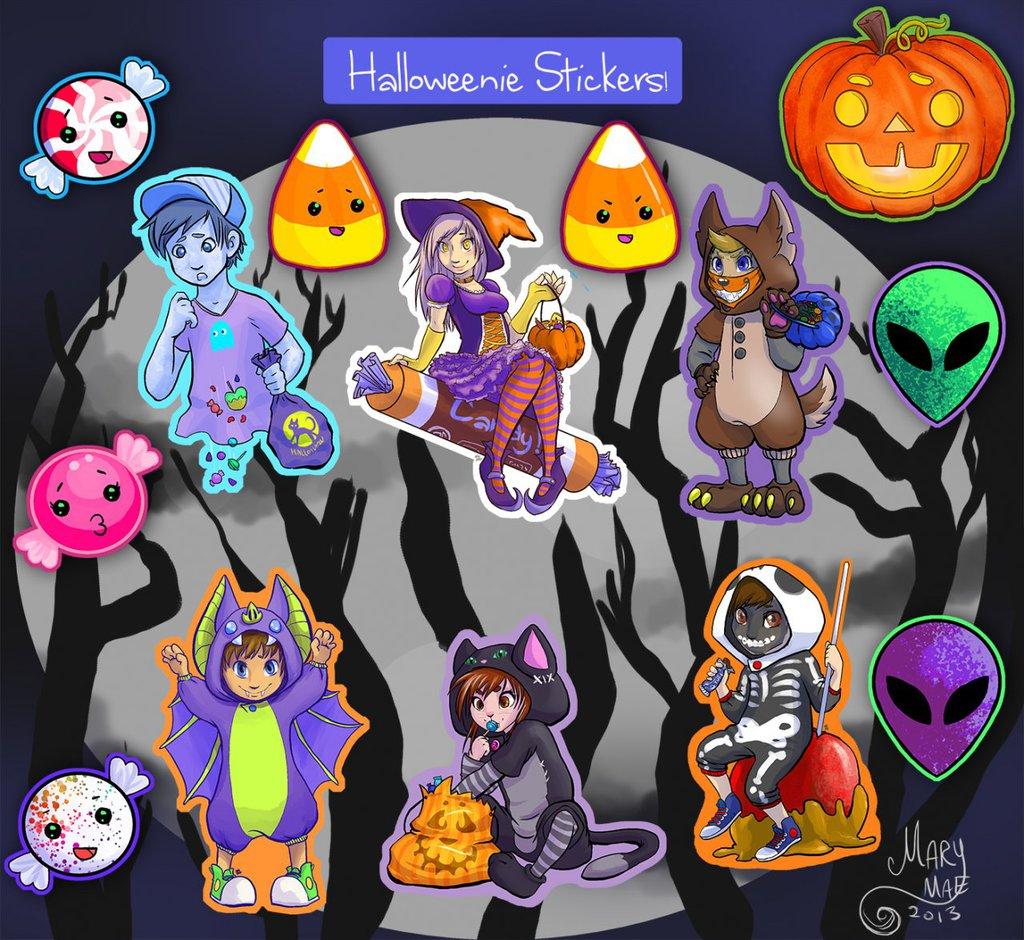 Most recent image: Halloweenie Stickers
